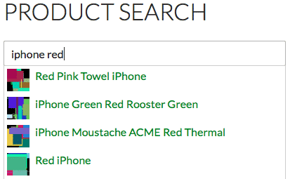 Instant Search Form