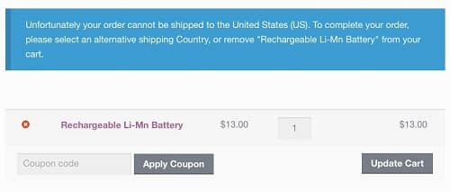 Restrict Shipping Countries & States