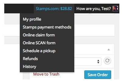 Monitor your Stamps.com account from WooCommerce admin.