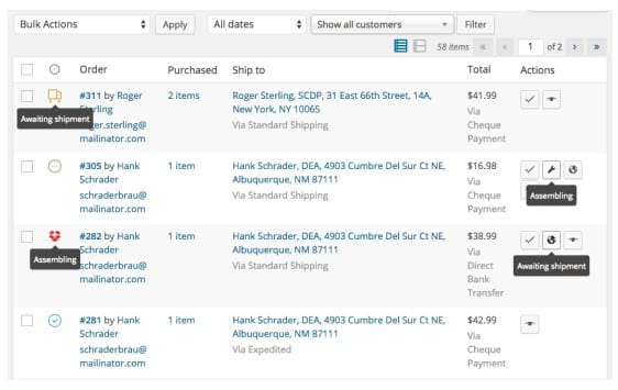 WooCommerce Order Status Manager in Action
