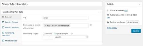 Membership Plan Data