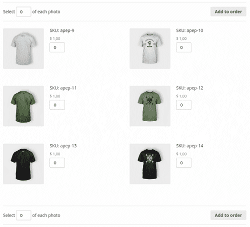 Intuitive photograph purchasing through WooCommerce